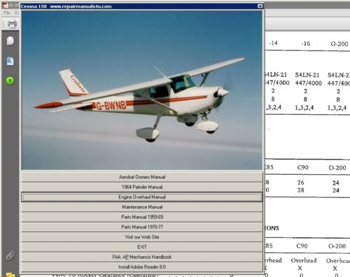 Product picture Cessna 150 1969 - 1976 Service Maintenance Manual